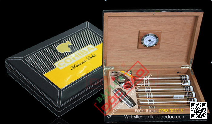 Ban set hop giu am cigar bat lua kho cigar dao cat cigar Cohiba T12G