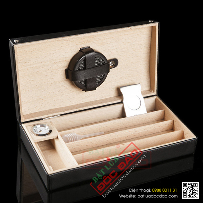 Gia set phu kien cigar bat lua hut cigar dao cat cigar hop dung cigar Cohiba SP026
