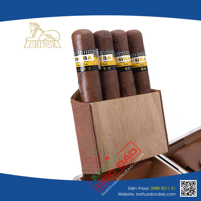 Gia set phu kien cigar bat lua hut cigar dao cat cigar hop dung cigar Cohiba S002