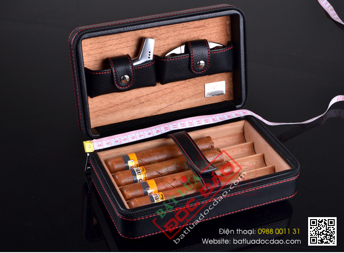 Shop ban phu kien cigar hop dung cigar dao cat cigar bat lua hut cigar S001