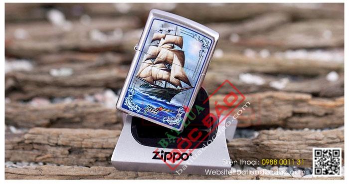 Bật lửa Zippo Mỹ in hình thuyền - Mã SP: Z042