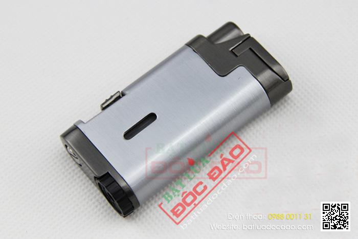 Bật lửa khò hút Cigar Cohiba chính hãng loại 2 tia lửa khò có thiết bị đục xì gà - Mã SP: BLH079