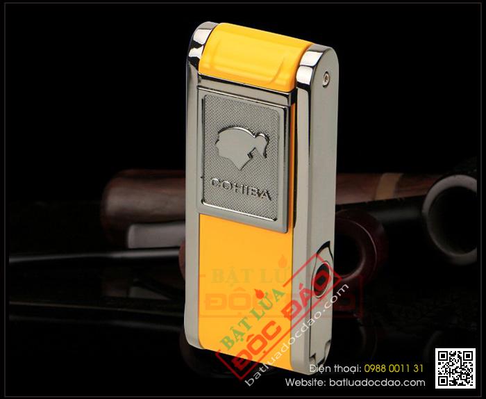 Bật lửa khò hút Cigar Cohiba chính hãng loại 2 tia lửa có thiết bị đục xì gà - Mã SP: BH080L