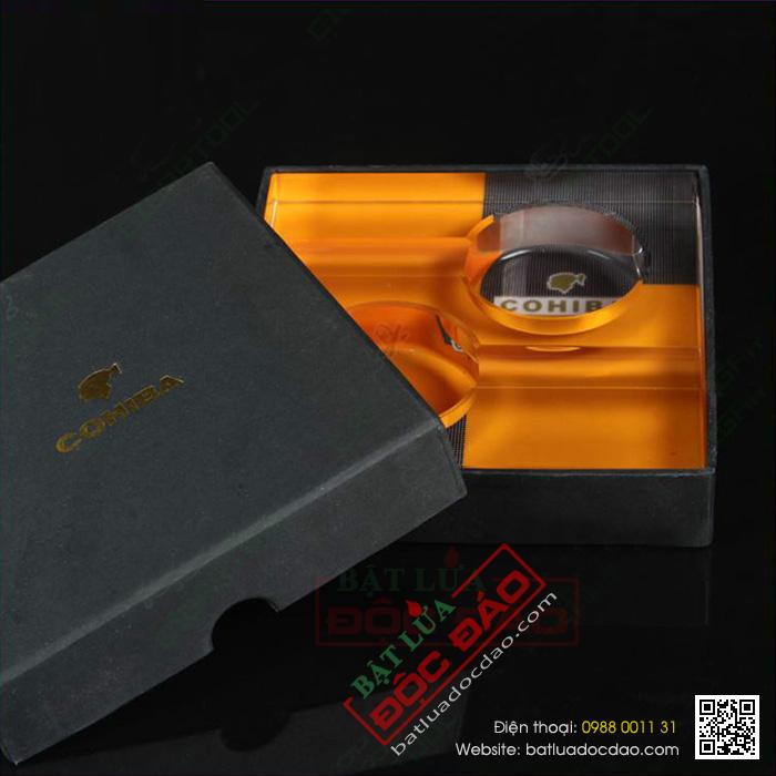 Gạt tàn Cigar Cohiba chính hãng chất liệu thủy tinh - Mã SP: G230