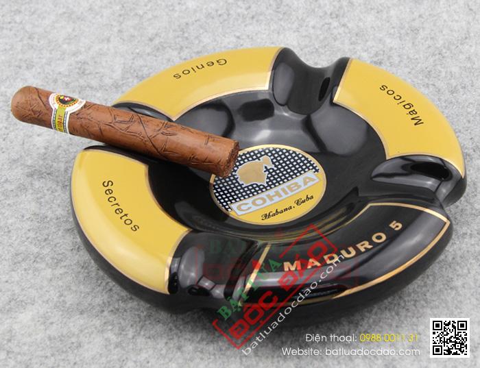 Gạt tàn Cigar Cohiba chính hãng loại 4 điếu - Mã SP: G408