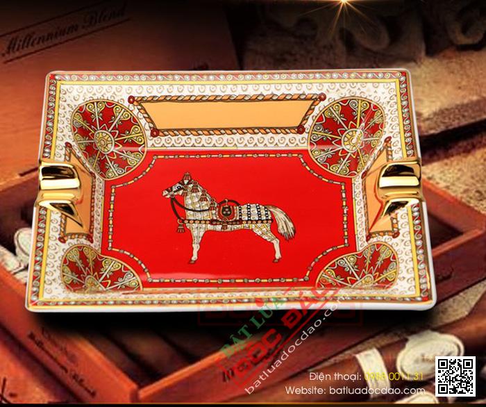 Gạt tàn Cigar Cohiba gốm sứ chính hãng loại 2 điếu - Mã SP: G234