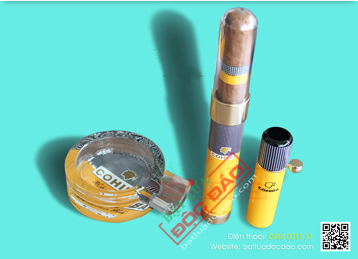 Set gat tan cigar bat lua cigar ong dung cigar T17 cao cap