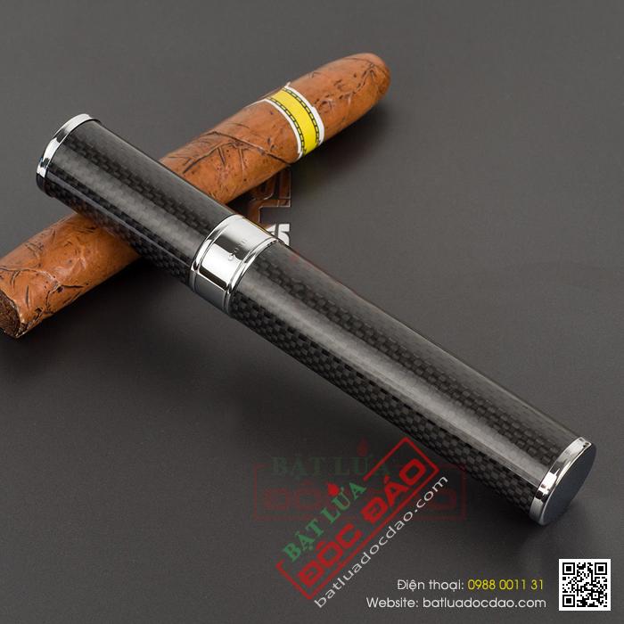 Ống đựng cigar Cohiba D002 màu đen cao cấp