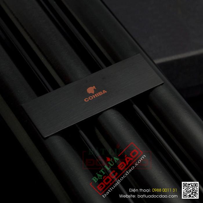 Ống đựng Cigar Cohiba chính hãng màu đen loại 3 điếu - Mã SP: D007