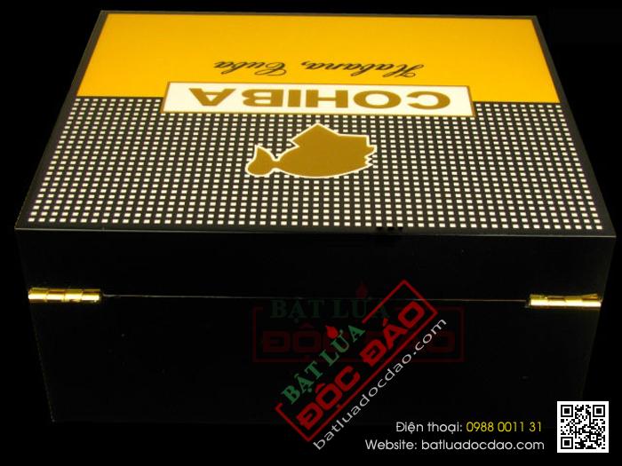 Hop giu am Cigar hop bao quan Cigar Cohiba H525 50 cao cap